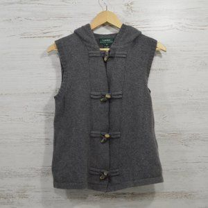 Ralph Lauren Cashmere Wool Hooded Sweater Vest